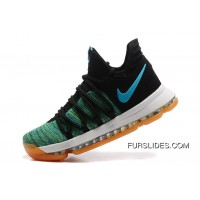 New Style Nike KD 10 Green Black White Men Shoes Kevin Durant