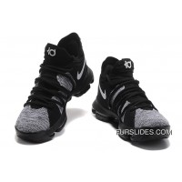 Online Nike KD 10 Grey Black Men Shoes Kevin Durant
