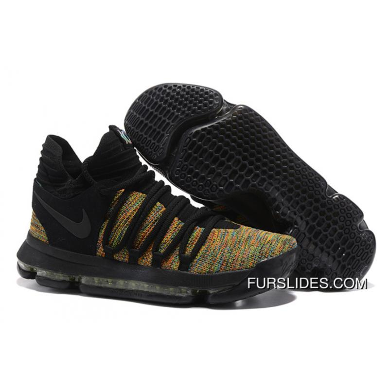 free shipping ec366 d7333 USD  98.36  265.57. Nike KD 10 Black Gold Men Shoes Kevin Durant For Sale  ...