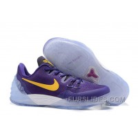 NIKE KOBE VENOMENON 5 Purple White Yellow Free Shipping