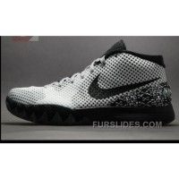"Discount Buy Cheap Nike Kyrie 1 ""BHM"" White/Black-Dark Grey Online 5cYFX"