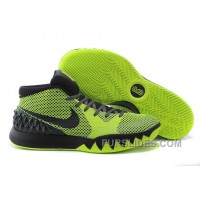 Lastest Nike Kyrie 1 Fluorescent Green And Black DAQY6F