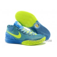 Nike Kyrie 1 Grade School Shoes Blue Green Authentic