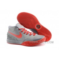 Nike Kyrie 1 Grade School Shoes Grey Red Christmas Deals