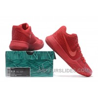 Nike Kyrie 3 Mens BasketBall Shoes All Red Free Shipping ZpmrN