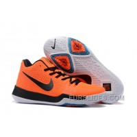 Nike Kyrie 3 Mens BasketBall Shoes Orange Black Christmas Deals Y3Wz5Pc