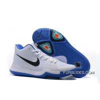 "Nike Kyrie 3 ""Duke"" White Blue Black On Sale Discount"
