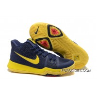 "Nike Kyrie 3 ""Cavs"" Blue Yellow On Sale Online"