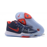 Nike Kyrie 3 Obsidian Blue/White-Red On Sale New Style