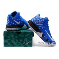 Nike Kyrie 4 Mens Basketball Shoes Royal Blue Online