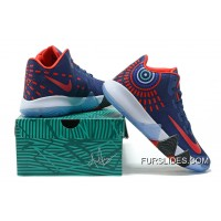 Nike Kyrie 4 Mens Basketball Shoes Blue Red New Release