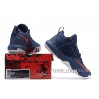 Nike Lebron Ambassador 9 Navy Blue Red New Release