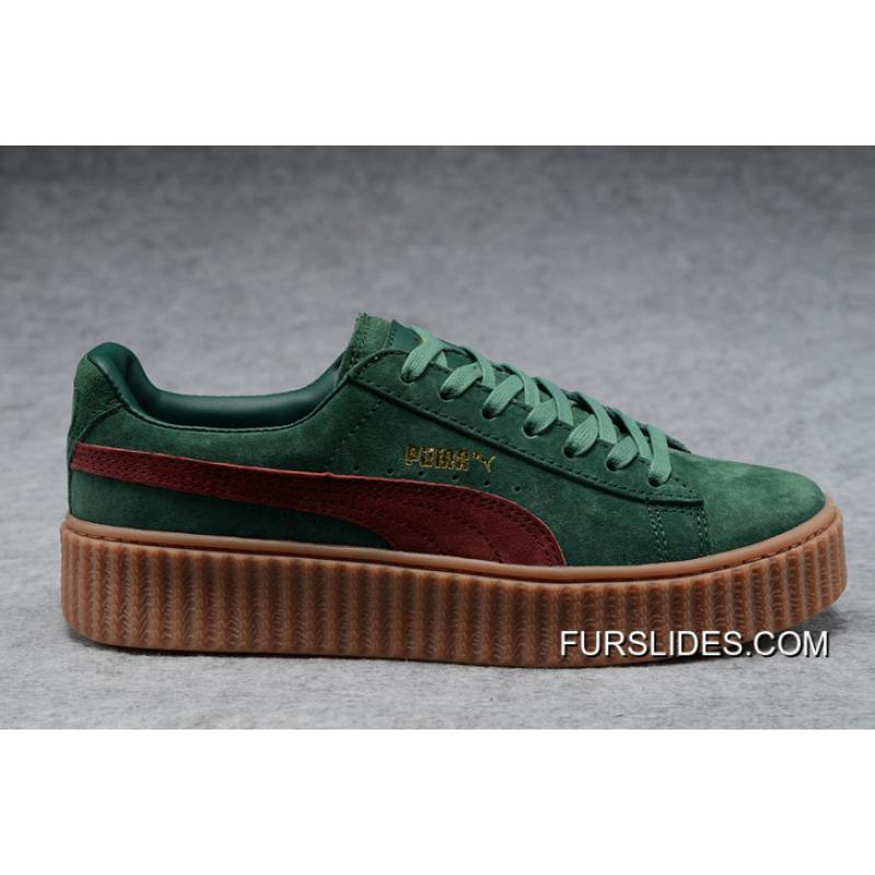 cheap for discount dc2c5 98845 Copuon Puma Rihanna Joint Casual Couple Shoes Green