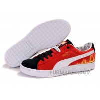 Puma Basket Shoes BlackRedWhite Free Shipping NBKA3N