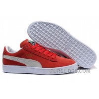 Puma Suede Archive Sneakers RedBeige Free Shipping AiEa5f