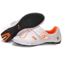 Men's Puma Baylee Future Cat II In White/Orange Christmas Deals FQkP5da