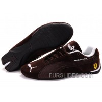 Puma BMW Shoes BrownWhite Lastest JKWXdRm