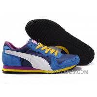 Super Deals Puma Cabana Racer II LX Sneakers BlueYellowPurple KK2bb8