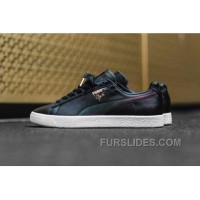 PUMA Clyde CYN 363637 01 Black Leather Metallic Signature Authentic