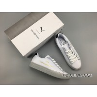 PUMA Clyde Stitched HAN White Silver Online