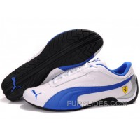Women's Puma Drift Cat II Ferrari White/Blue For Sale CZ6Nd