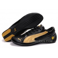 Men's Puma Drift Cat II SF In Black/Golden Free Shipping ASKtHYM