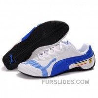 Online Mens Puma Drift Cat IV White-Royal Blue Gbd2GN