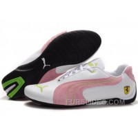 Christmas Deals Puma Engine Cat Low Shoes White/Pink/Green ASZGP2a