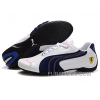 Puma Engine Cat Low Shoes White/Blue/Pink Christmas Deals CfXsz
