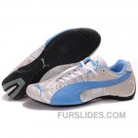 Puma Engine Cat Low Shoes In White Blue Top Deals Ky6EH5