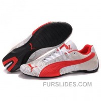 Puma Engine Cat Low Shoes In White Red Christmas Deals AJFBpAn