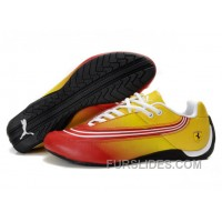 Authentic Puma Ferrari Leather Shoes Yellow/Red/White XRsmf