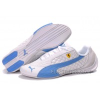 For Sale Puma Ferrari Induction Sneakers White/Sky Blue HCzNp