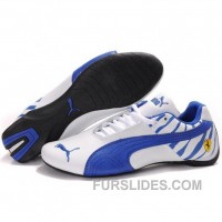 Top Deals Puma Future Cat GT Ferrari Shoes In White Blue IiHn2Fm