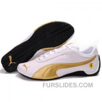 Puma Future Cat GT Ferrari Shoes In White Gold For Sale QpmEhGt