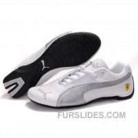 Puma Future Cat GT Ferrari Classic Shoes In White Silver Cheap To Buy 44YZHPN