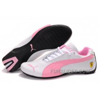 Puma Ferrari Inflection Sneakers White/Pink Authentic YHCifQ