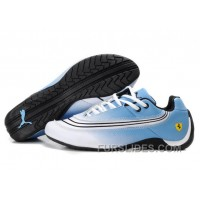 Puma Ferrari Leather Shoes White/Blue/Black Top Deals 4PK7ewz