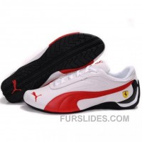 Puma Future Cat GT Ferrari Sculptural Shoes In White Red Super Deals GNmEj