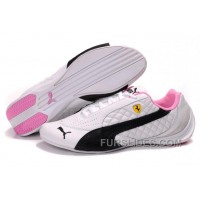 Puma Ferrari Induction Sneakers White/Black/Pink Lastest E7wfD