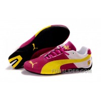 Puma Ferrari Edition Shoes Plum Purple/Beige/Yellow Online GEMbNjW
