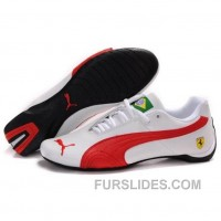 Puma Future Cat GT Ferrari Classic Shoes In White Red Brazil Lastest GpPe7