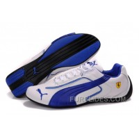 Men's Puma Ferrari In White/Blue/Black Lastest PtnWjHd