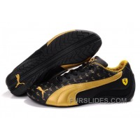 Men's Puma Ferrari In Black/Golden Top Deals ABEsJp