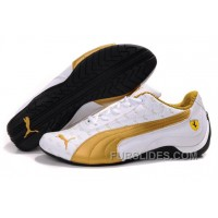Men's Puma Ferrari In White/Golden/Black Super Deals RYsPpe