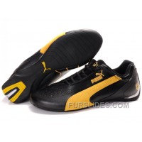 Mens Puma Fluxion In Black/Yellow Free Shipping PAtZ3je