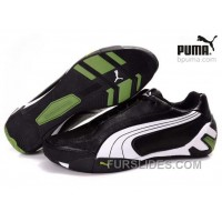 Puma Fluxion Shoes Black/White/Green 903 Discount WZRddx