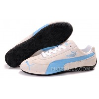 Men's Puma Fur In White/Blue Free Shipping MntDE