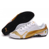Cheap To Buy Women's Puma Future Cat Low In White/Gold FJA6t