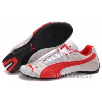 Women's Puma Future Cat Carve White/Red Christmas Deals KiX5CiK